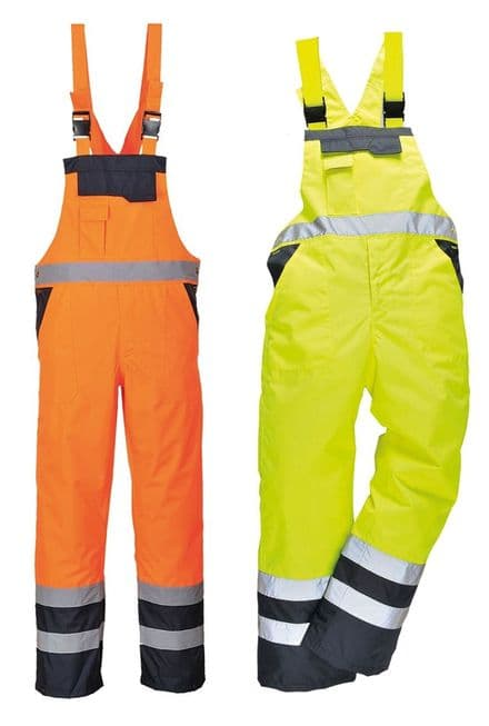 Stormway HI VIS Visibility Dungaree Waterproof Bib &Brace Safety Fishing Overall